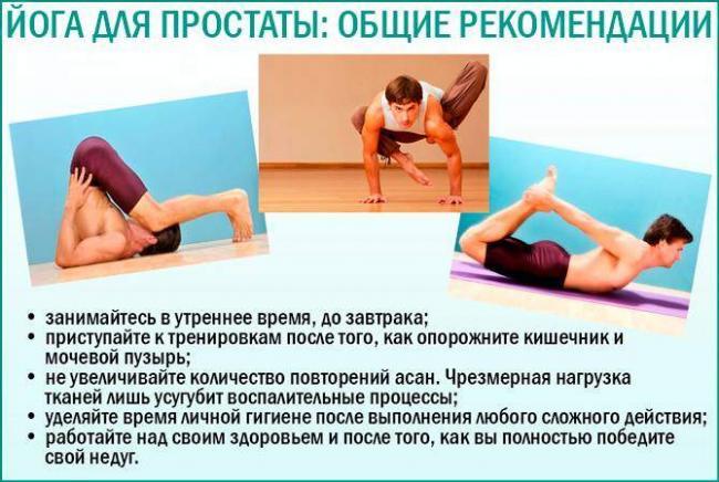 упражнения йога для лечения простатита